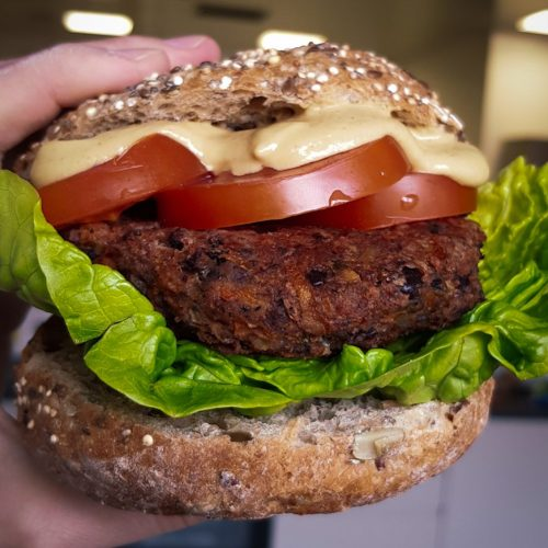 Baobab Black Bean Vegan Burger