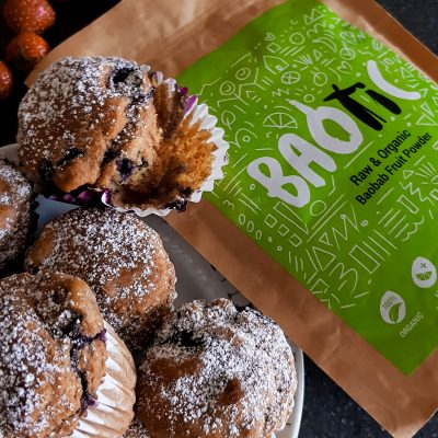 Vegan Baobab & Blueberry Muffins