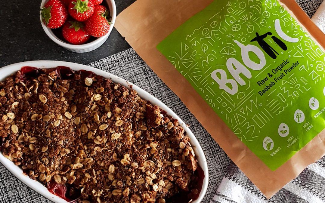 Baobab Apple & Strawberry Crumble