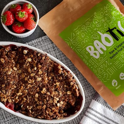 Baobab Apple & Strawberry Crumble