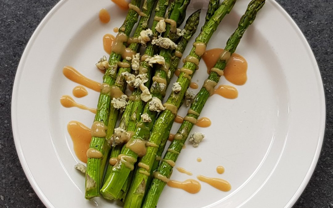 Grilled Asparagus with Baobab Dressing